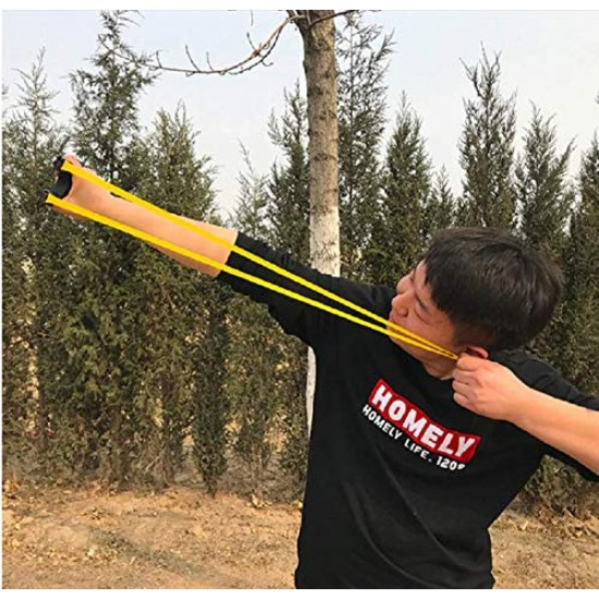 High Quality Plastic Catapult Slingshot Powerful Outdoor Hunting Gullel